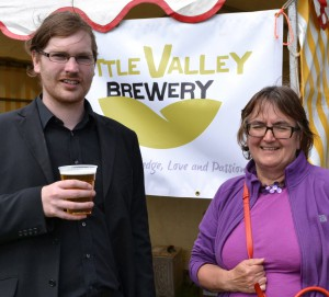 Cllr Baker & Battye supporting the Little Valley brewery based in Calderdale. Photograph by Jade Smith.